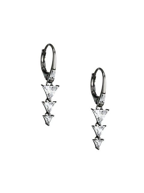 Tivoli Cubic Zirconia Sterling Silver Drop Earring