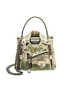 4eb52e72db6 Product image. QUICK VIEW. Moschino. Cash Biker Jacket Leather Crossbody Bag