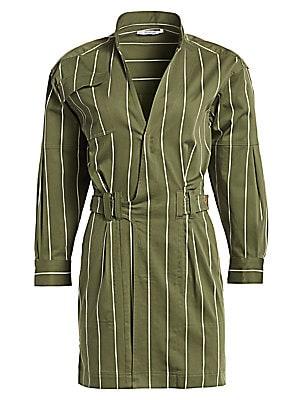 Striped Utility Dress by Derek Lam 10 Crosby