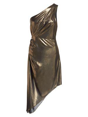 Ramy Brook Susanna Metallic Asymmetrical Dress