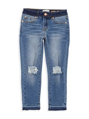 7 For All Mankind Little Girl S Girl S Luxe Vintage Edie Distress Jeans