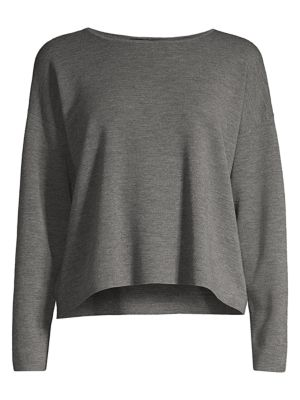 Eileen Fisher Merino Wool Long Sleeve Top