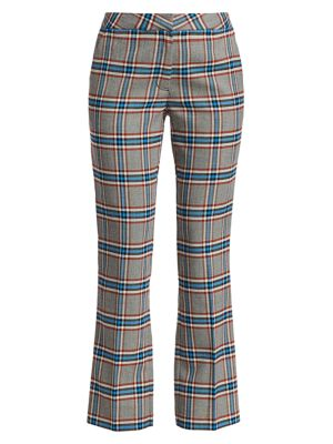 Tanya Taylor Regina Ii Plaid Pants