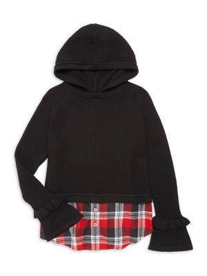 Design History Girl S Combo Hooded Tunic