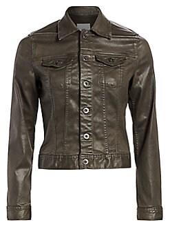 f5f9e0935 Women's Apparel - Coats & Jackets - Leather & Faux Leather - saks.com
