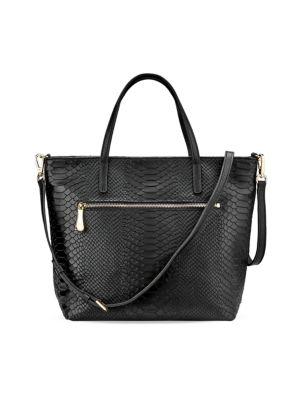 Gigi New York Lexi Python-Embossed Leather Crossbody Bag