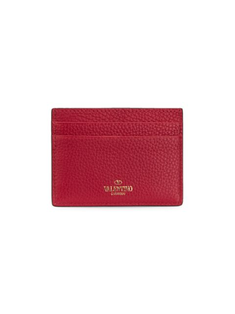 Valentino Valentino Garavani Rockstud Leather Card Holder | SaksFifthAvenue