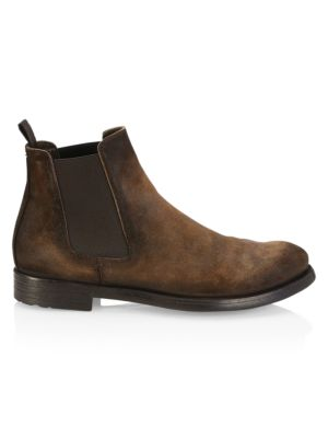 Officine Generale Hive Suede Chelsea Boots In Hunter Sigaro