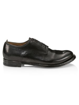 Officine Generale Anatomia Leather Lace-up Dress Shoes In Nero