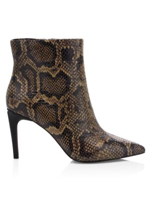 competitive price 16d22 d8cb8 Bianca Snakeskin-Embossed Leather Ankle Boots