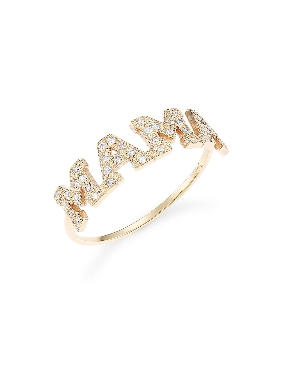 Zoë Chicco Women's Mama 14k Yellow Gold & Diamond Ring