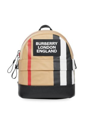 Burberry Small Nico Striped Logo Backpack