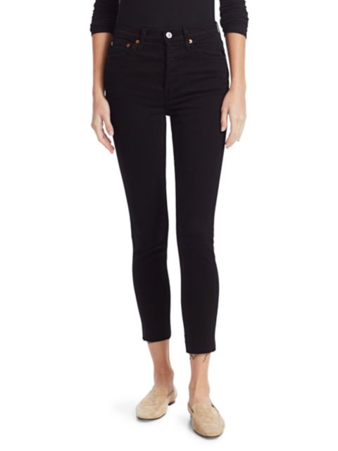 Re/done High-Rise Ankle Skinny Jeans | SaksFifthAvenue