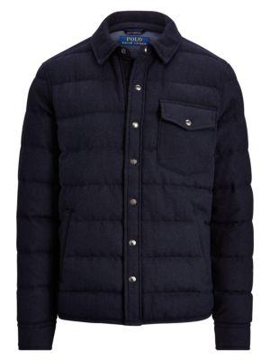 Polo Ralph Lauren Brushed Wool Blend Puffer Jacket