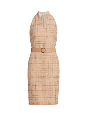 Akris Punto Dresses Summer Sleeveless Belted Tweed Dress