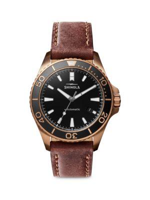 Shinola Bronze Monster Automatic Watch In Brown