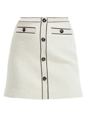 Maje Joppy Button Front Mini Skirt