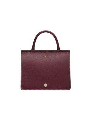 Oad Bags Mini Prism Faux Fur-Trimmed Leather Satchel