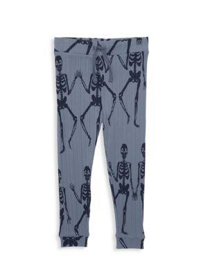Mini Rodini Little Girl S Girl S Skeleton Jogging Pants