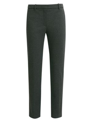 Houndstooth Knit Tailored Trousers by Theory