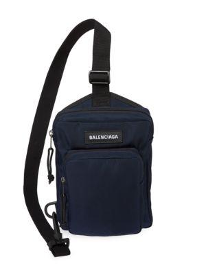 Balenciaga Explorer Nylon Crossbody Sling Bag
