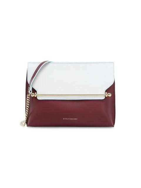 Strathberry East/West Stylist Bi-Color Leather Crossbody Bag | SaksFifthAvenue