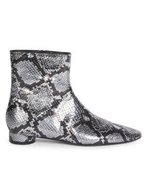 304a7ce1b62 Balenciaga - Oval Snake-Print Ankle Boots - saks.com