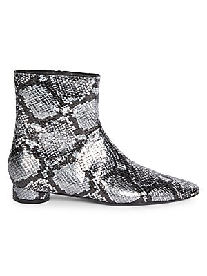 300d9b2c3f9 Balenciaga - Oval Snake-Print Ankle Boots