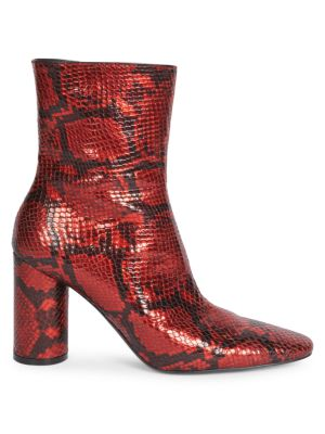 f8962de1e3e Balenciaga - Oval Snake-Print Block-Heel Ankle Boots - saks.com