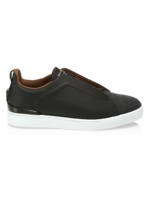 Ermenegildo Zegna Sneakers Triple Stitch Slip-On Sneaker