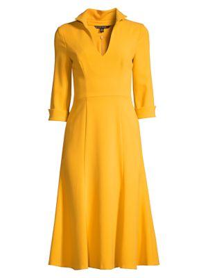 Black Halo Women's Kensington Stand-collar Fit & Flare Dress In Cadmium
