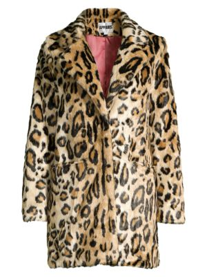 Ongebruikt Apparis - Margot Leopard-Print Faux Fur Coat - saks.com SR-28