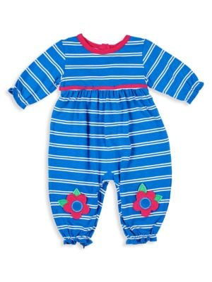 Florence Eiseman Baby Girl S Stripe Floral Appliqu Coverall