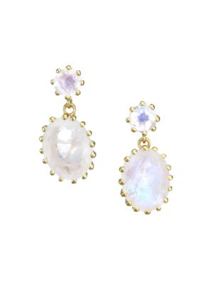 Astley Clarke 14k Yellow Goldplated Rainbow Moonstone Drop Earrings