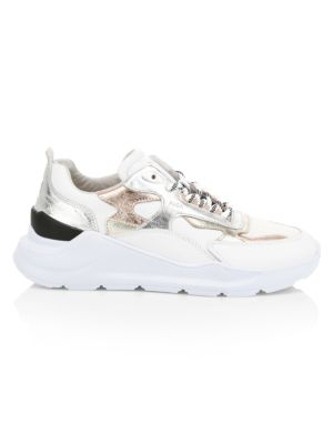 D A T E Fuga Metallic Leather Chunky Sneakers