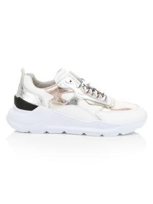 D A T E Fuga Metallic Leather Chunky Sneakers