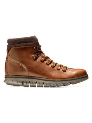 Zerogrand Waterproof Leather Hiker Boots by Cole Haan