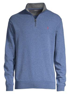 Cotton Blend Half Zip Pullover