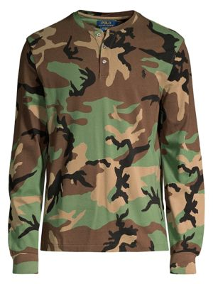 Polo Ralph Lauren Camo Printed Featherweight Henley