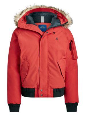 Polo Ralph Lauren Jackets Annex Faux Fur-Trimmed Down Bomber Jacket
