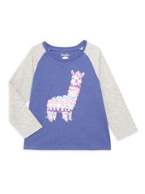 Hatley Little Girl S Girl S Adorable Alpaca Tee