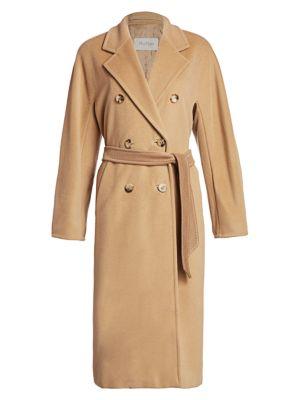 Max Mara Madame Wool Cashmere Belted Wrap Coat