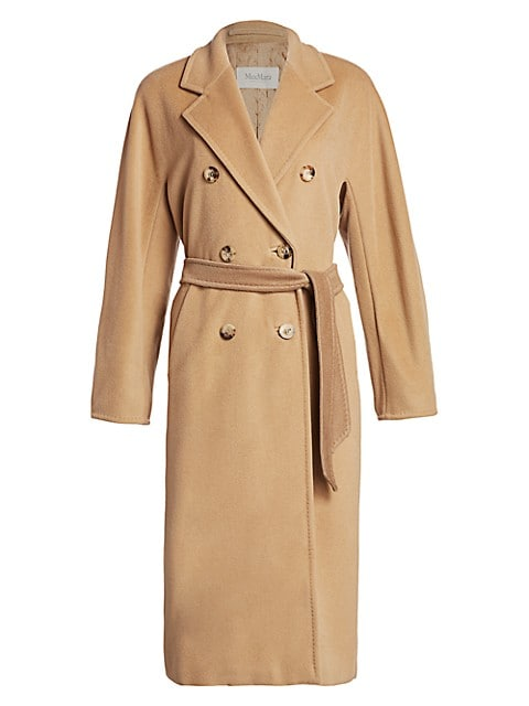 Madame Wool & Cashmere Belted Wrap Coat