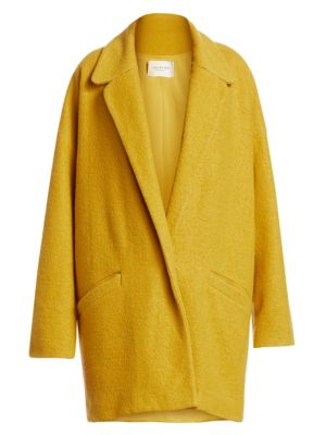 Halston Oversized Boiled Wool Coat
