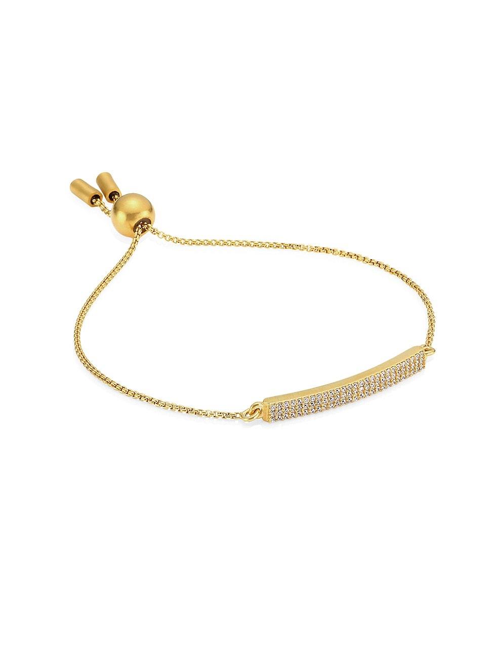 Dean Davidson Women's 22k Yellow Goldplated & Cubic Zirconia Pavé Bar Chain Bracelet