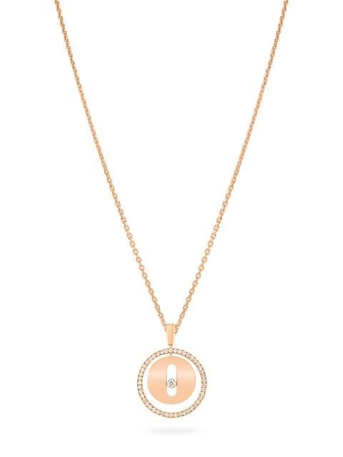 Lucky Move PM 18K Rose Gold & Diamond Pendant Necklace