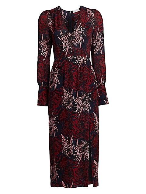 Bailey Floral Silk Midi Dress
