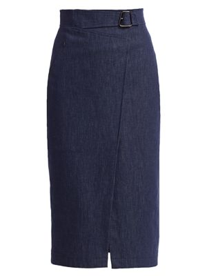 Akris Skirts Denim Pencil Skirt