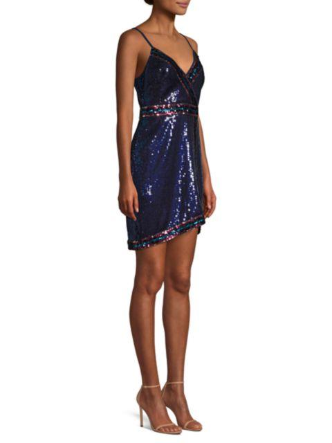BCBGMAXAZRIA Sequin Mini Dress | SaksFifthAvenue