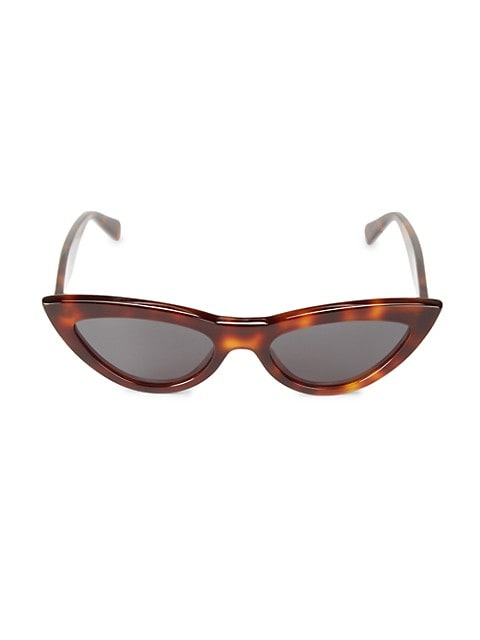 56MM Narrow Cat Eye Sunglasses